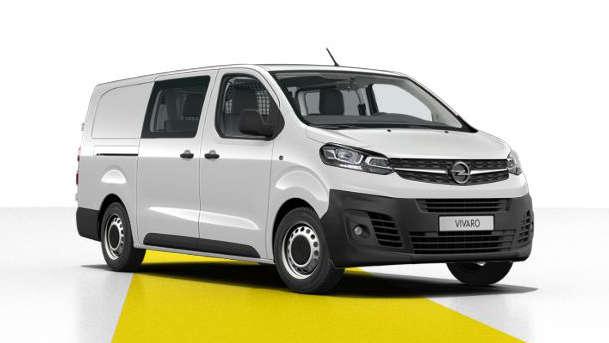 Opel Vivaro Crew Cab, вигляд спереду