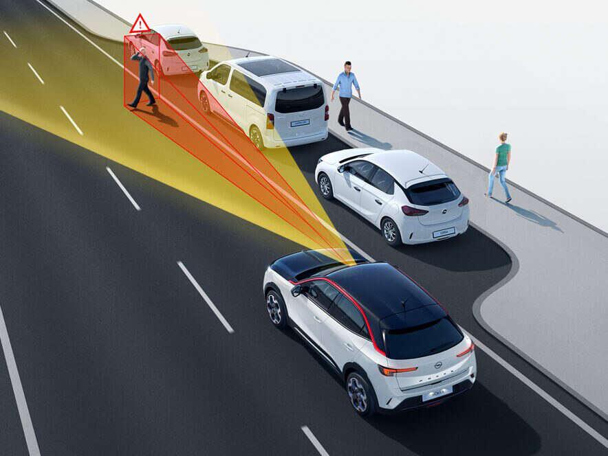 Opel, Mokka, аварійне гальмування